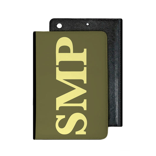 Large Side Initial Khaki IPad Case