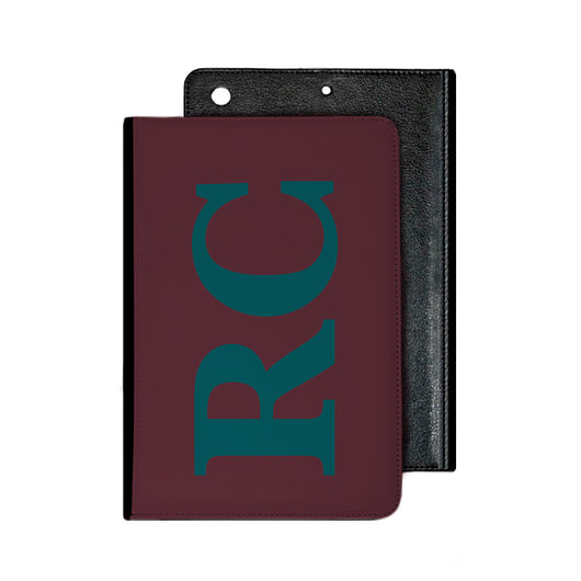 Large Side Initial Burgundy IPad Case