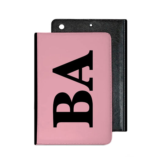 Large Side Initial Pink IPad Case