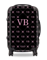 Personalised Suitcase Black with Multi Pink Initials
