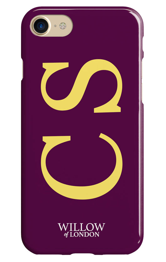 Gloss Purple with Yellow Side Initial