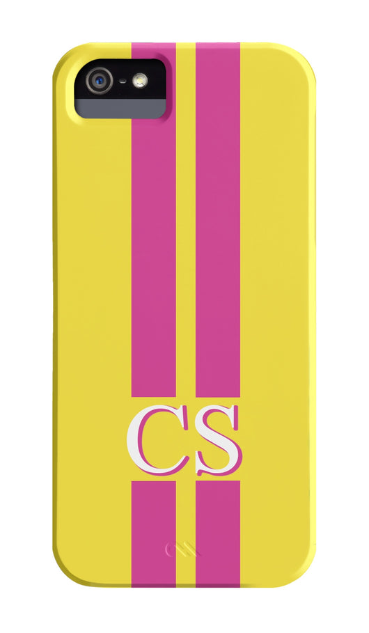 Caroline Stanbury Yellow and Pink Striped Case