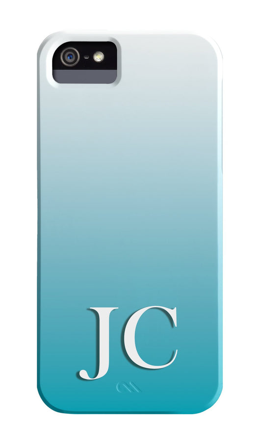 Two Tone Blue Low Initial Cover