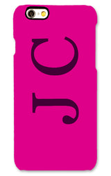 Gloss Hot Pink with Maroon Side Initial
