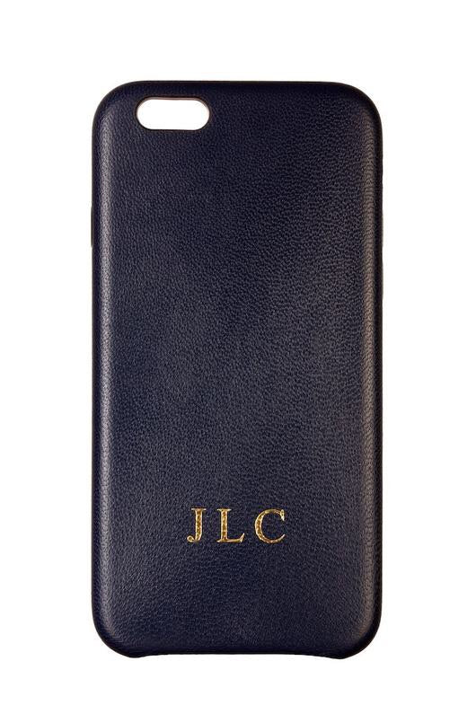 Luxury Genuine Leather Smartphone Case Navy