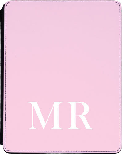 Pink Initial Lower Ipad cover