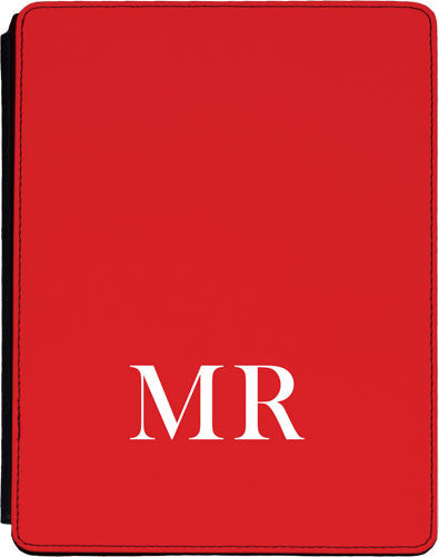 Red Initial Lower Ipad cover