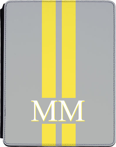 Light Grey with Yellow Stripes Tablet Cover