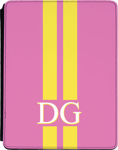 Light Pink with Yellow Stripes Tablet Cover