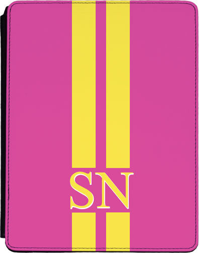 Dark Pink with Yellow Stripes Tablet Cover