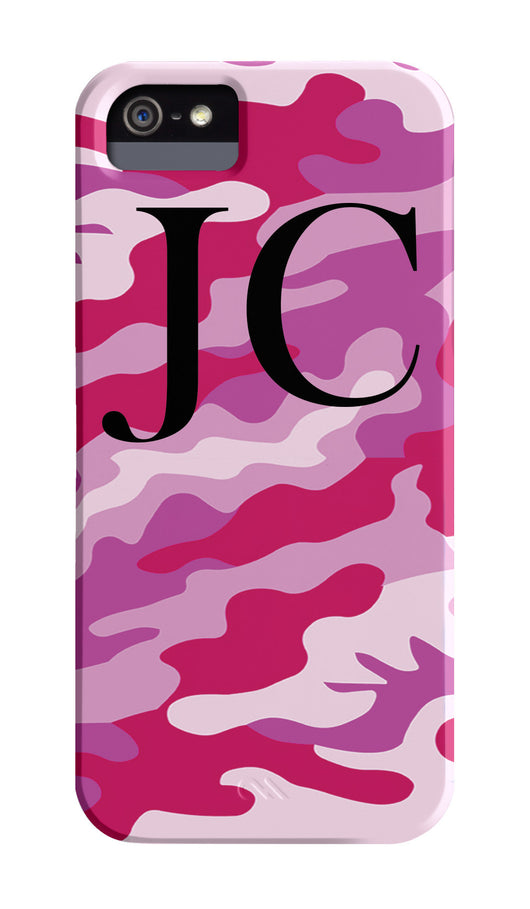 Pink Camouflage Initials Top