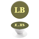 Popgrip Khaki with Yellow Initials