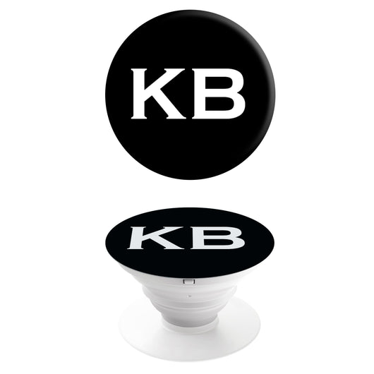 Popgrip Black with White Initials