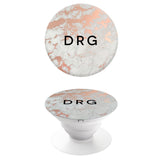 Popgrip Gold Marble with Black Initials
