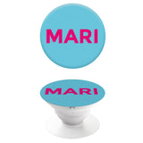 Popgrip Bright Blue with Hot Pink Side Initials