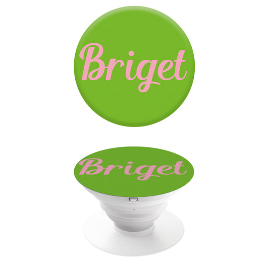 Popgrip Lime Green with Pink Initials