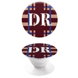 Popgrip Burgundy and Blue with White Initials