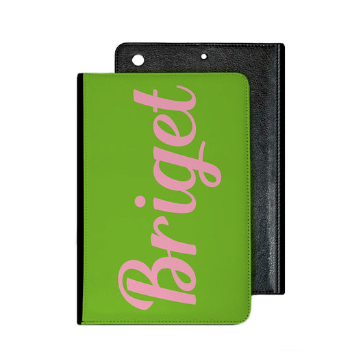 Lime Green With Hot Pink Initials Tablet Cover