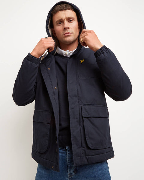 Blauwe winterjas - Lyle & scott