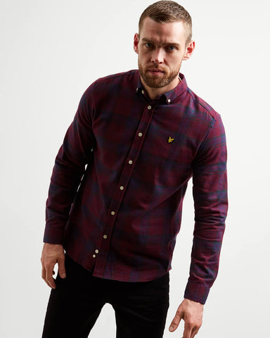Hemd bordeaux - Lyle & scott