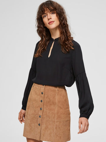 Zwarte top-   Selected Femme