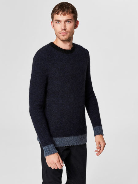 Pull blauw -Selected Homme