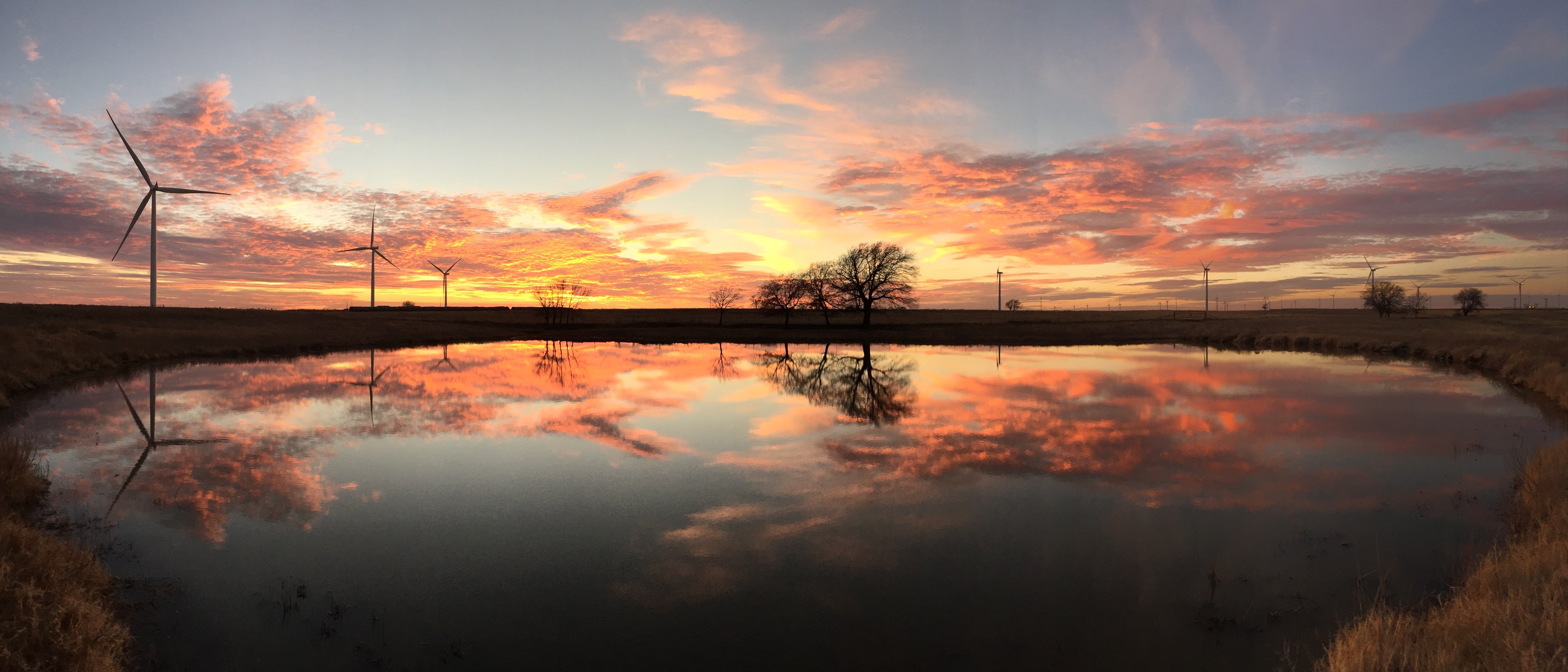 Week 1: Beautiful Sunset Mirroring The Lake in Panorama