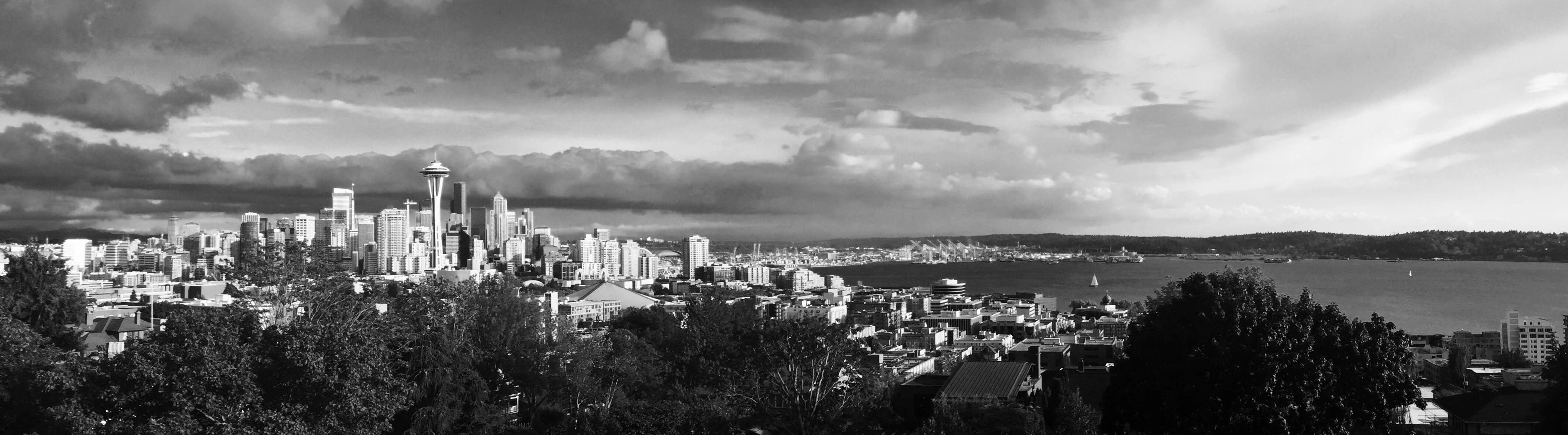 Week 3: Black & White City Skyline View Panorama