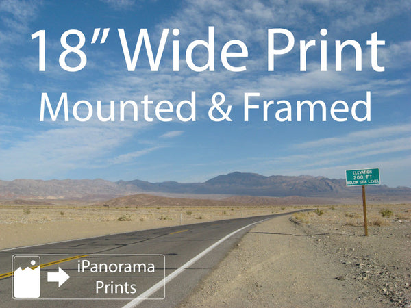 "18"" Wide iPhone Panorama Print Mounted & Framed (US Only) - Buy Online - iPanorama Prints - 2"
