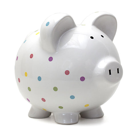 Piggy Bank - Polka Dots Confetti Dots
