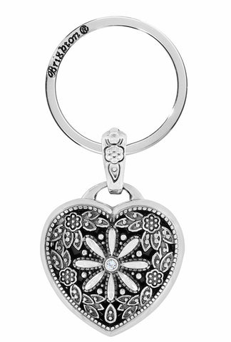 Floral Heart Key Fob STYLE: E12192