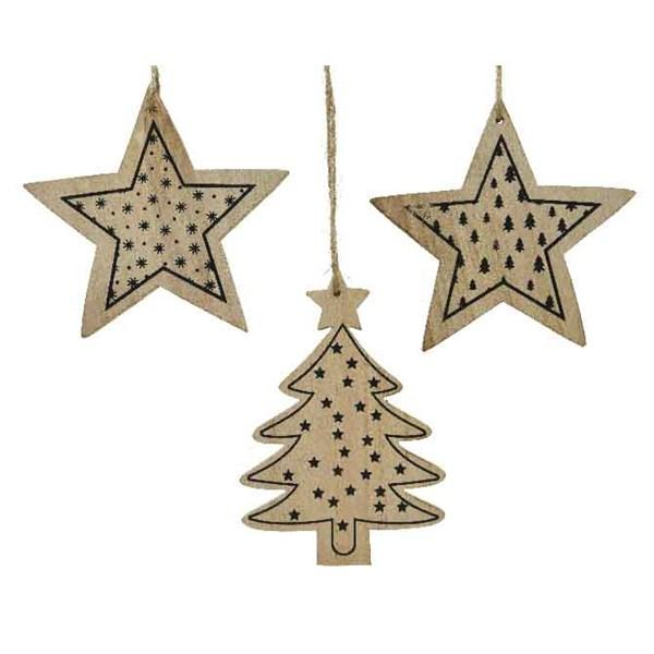 Wooden Printed Christmas Decoration