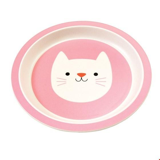 Cookie Cat Bamboo Plate