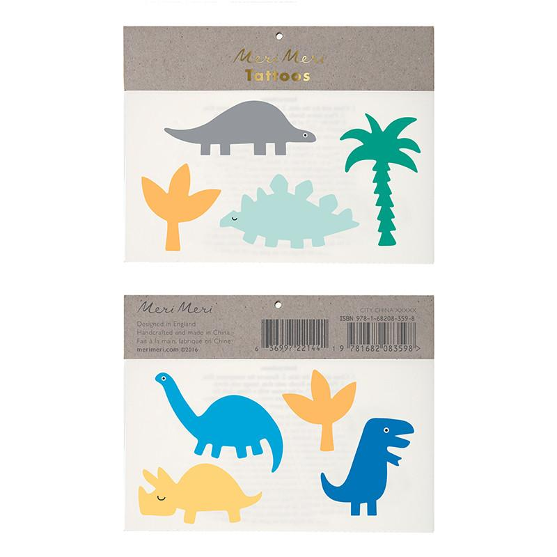 Bright Dinosaur Temporary Tattoos