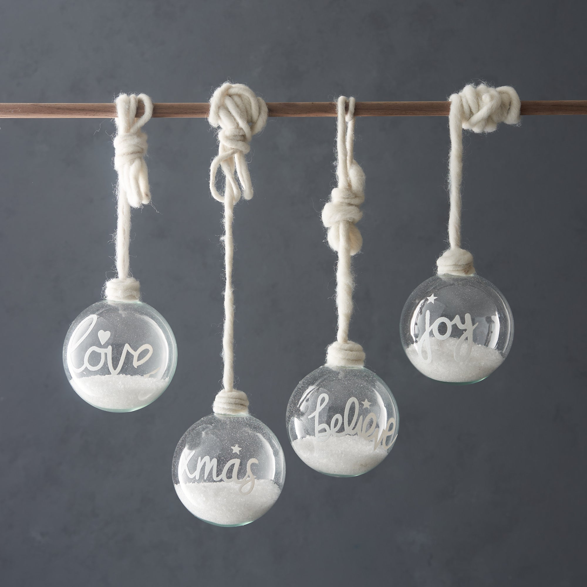 Snow Filled Baubles