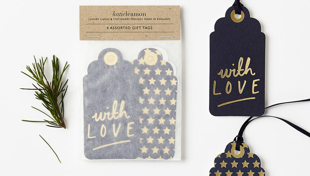 Navy & Gold Gift Tags