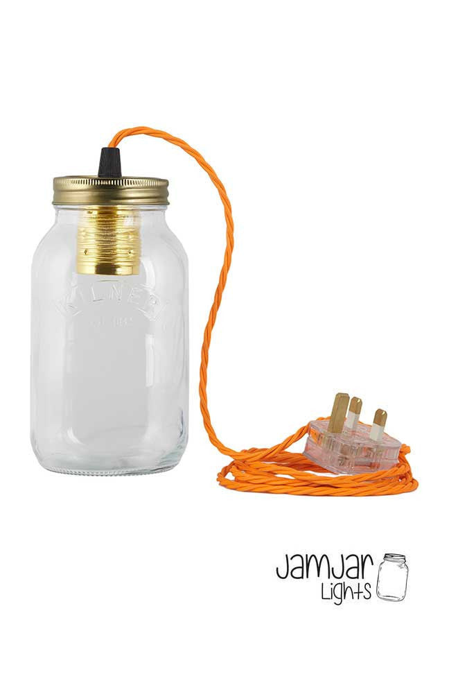 Jam Jar Lamp with Bulb