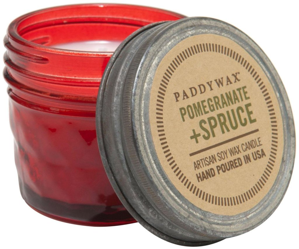 Paddywax Pomegranate and Spruce Mini Jar Candle