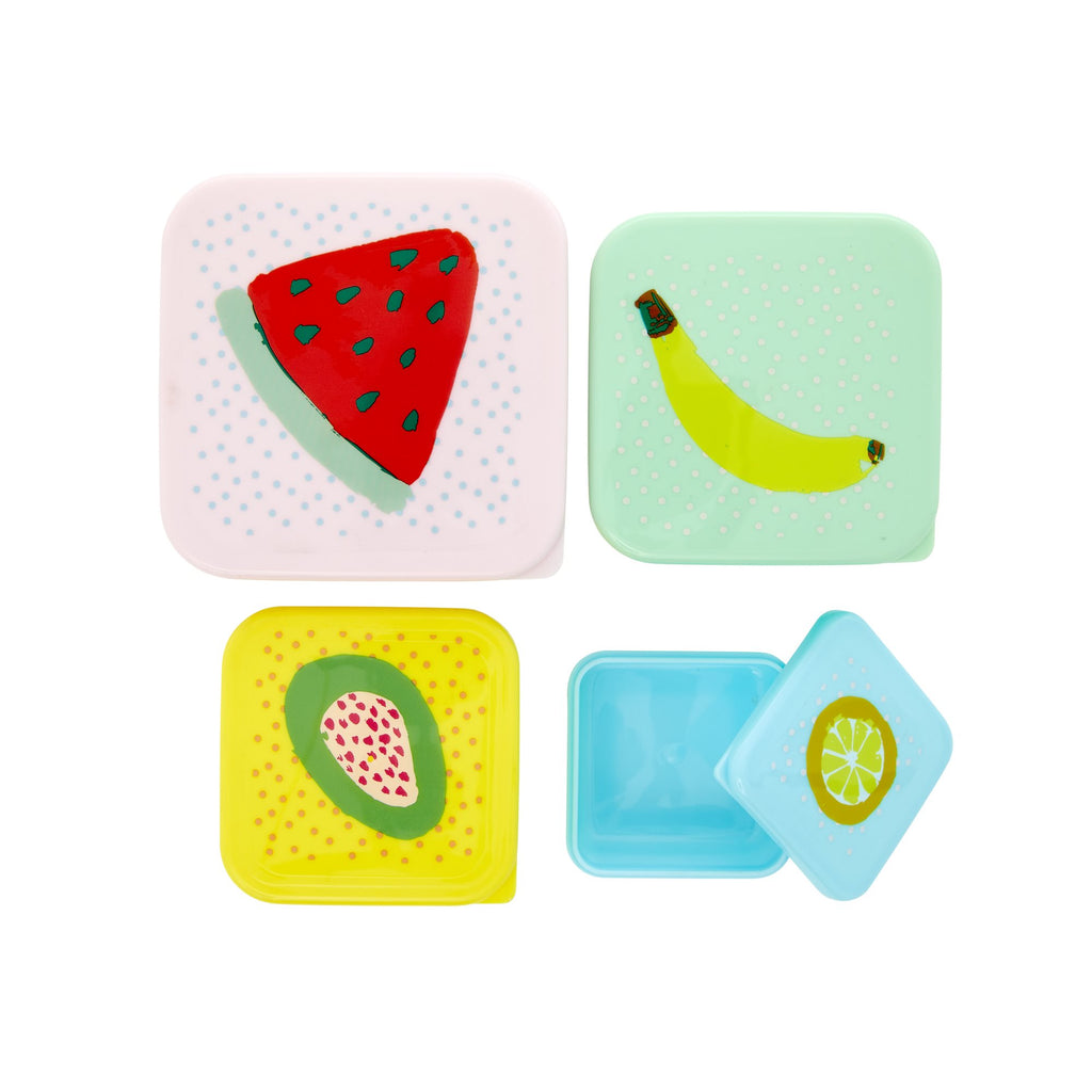 Rice fruit print food boxes