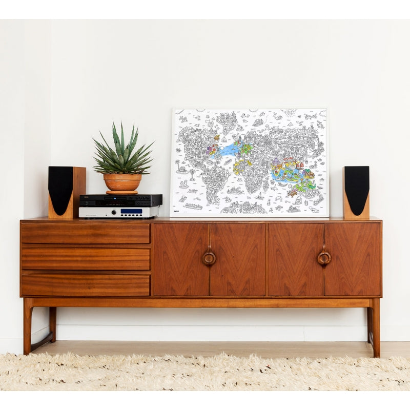 OMY Large Colouring Poster - Atlas