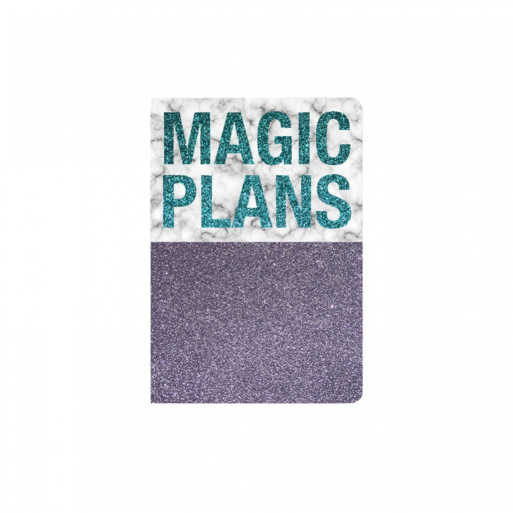 Magic Plans Glitter Notebook