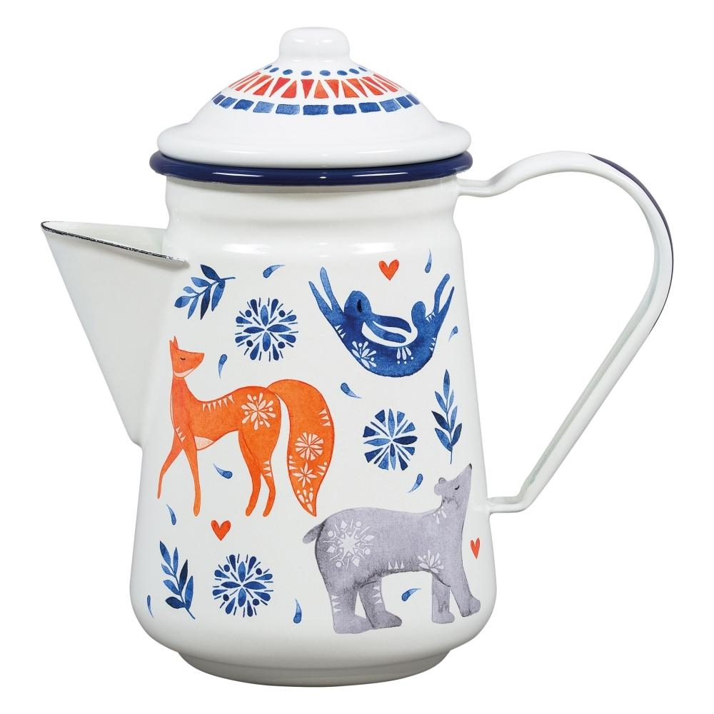 Folklore Enamel Sunrise Coffee Pot