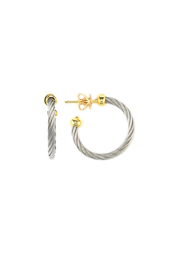 Charriol Celtic - Silver Earrings in Yellow Gold  03-124-1240-0