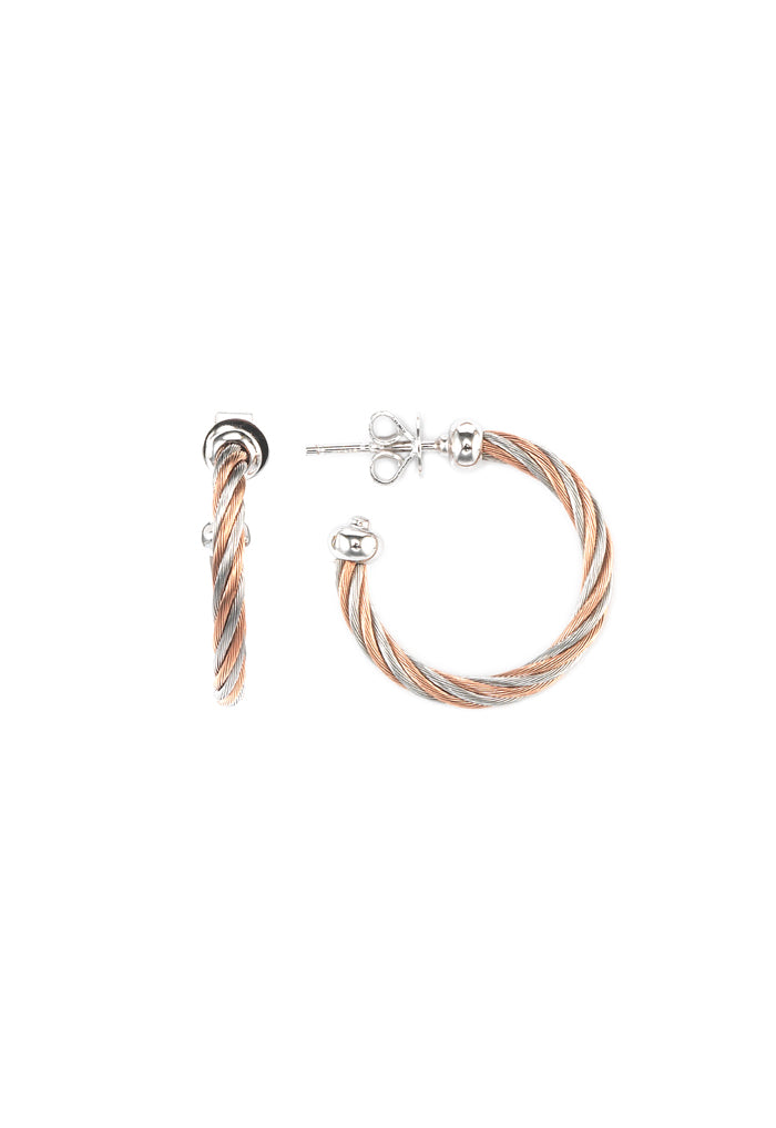 Charriol Celtic - Silver Earrings in Rose Gold  03-921-1240-0