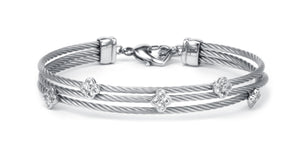 Charriol Malia - Silver Bangle W/White Topaz 04-121-1220-4