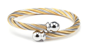 Charriol Celtic - Bicolor Bangle W/Yellow Gold  04-801-1216-0
