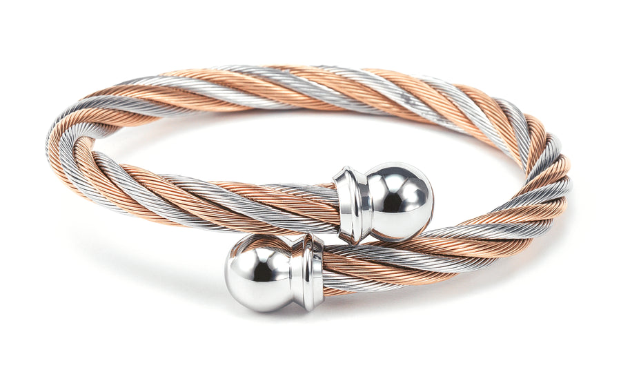 Charriol Celtic - Bicolor Bangle W/Rose Gold  04-901-1216-0