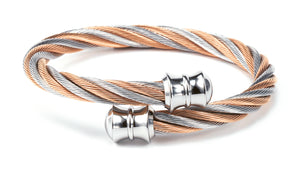 Charriol Celtic - Stainless steel bicolor bangleW/Rose Gold 04-901-1217-0