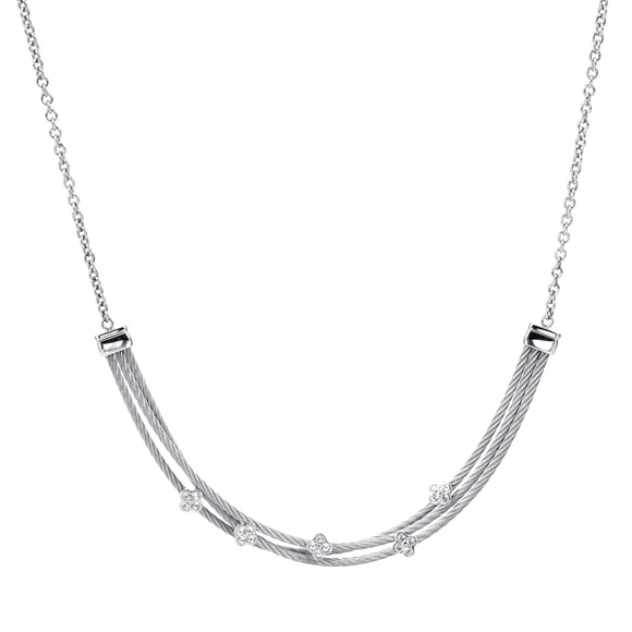 Charriol Malia - Silver Necklace W/White Topaz 08-121-1220-3