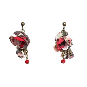 Annais Earrings Burgundy Bouquet